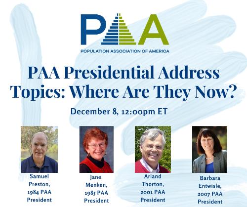 PAA  Past Presidential Address topics cgraphic